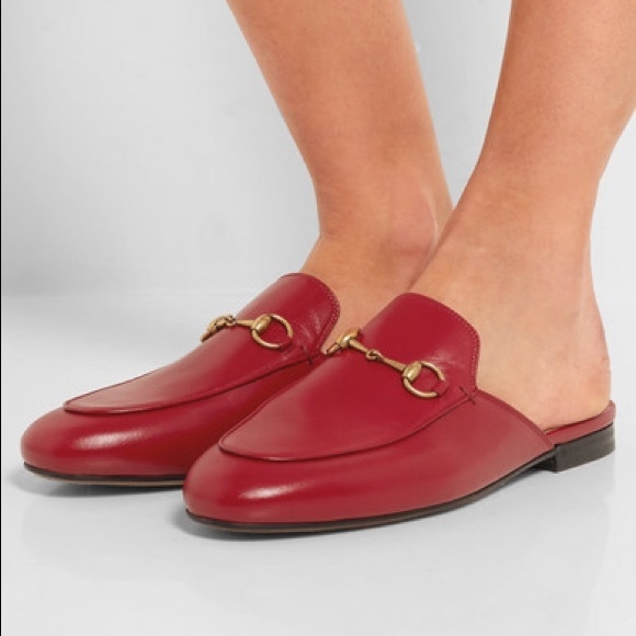 cd4eb30b0427 Gucci Shoes - Gucci Princetown Red Leather Slipper Loafer